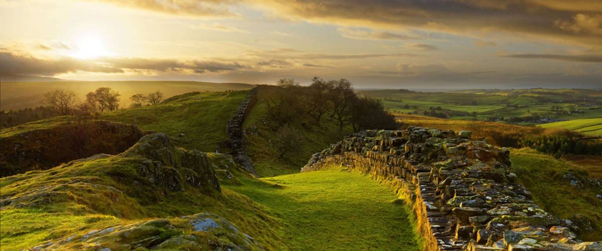 Walltown Crags on Hadrian's Wall, Northumberland. Image credit Roger Clegg.